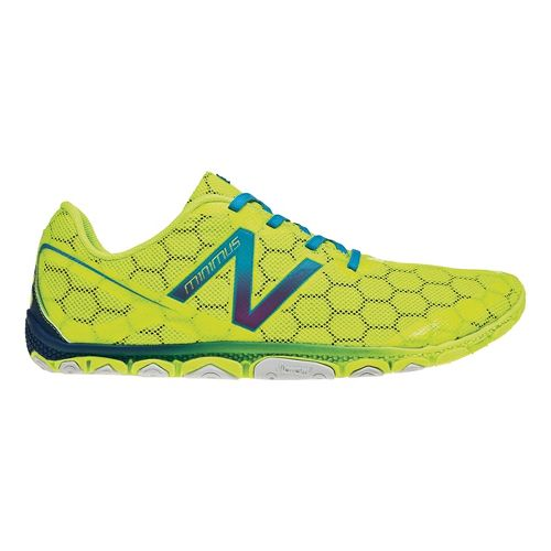 Mens New Balance Minimus 10v2 Running Shoe - Yellow/Blue 11