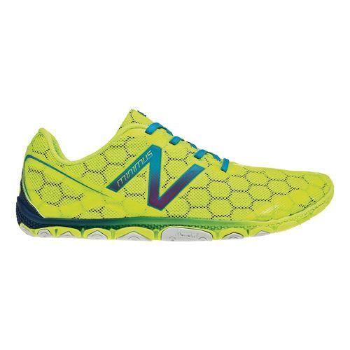 Mens New Balance Minimus 10v2 Running Shoe - Yellow/Blue 12.5