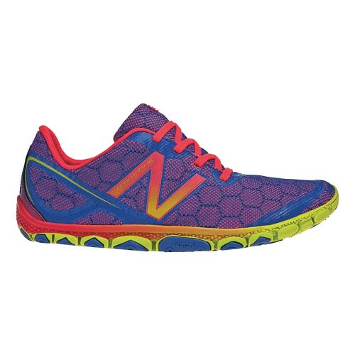 Womens New Balance Minimus 10v2 Running Shoe - Blue/Pink 10