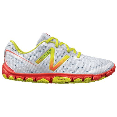 Womens New Balance Minimus 10v2 Running Shoe - White/Coral 10.5