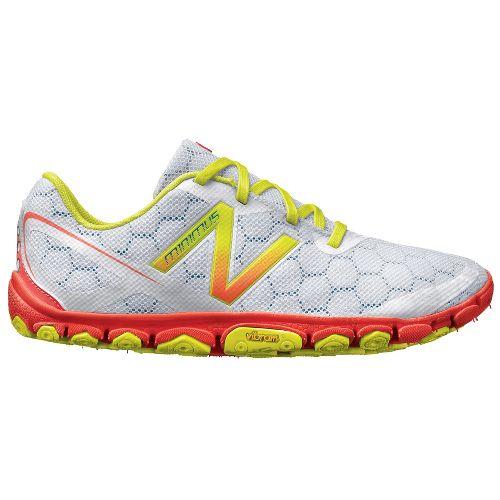 Womens New Balance Minimus 10v2 Running Shoe - White/Coral 8.5
