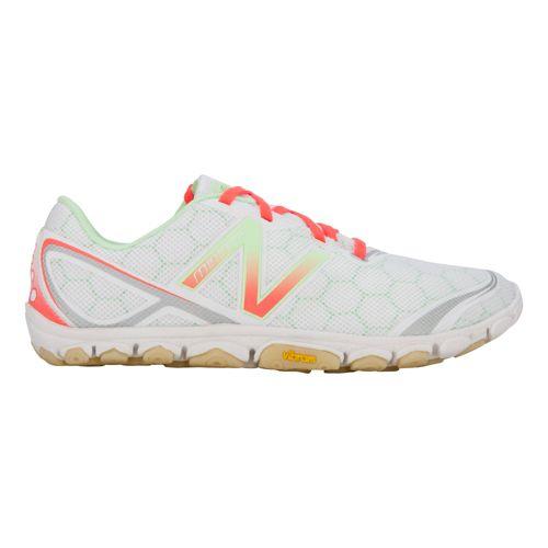 Womens New Balance Minimus 10v2 Running Shoe - White/Pink 7.5