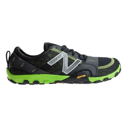 Mens New Balance Minimus 10v2 Trail Running Shoe - Black/Green 12.5