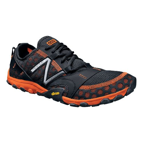 Mens New Balance Minimus 10v2 Trail Running Shoe - Black/Orange 7.5