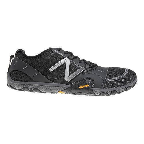 Mens New Balance Minimus 10v2 Trail Running Shoe - Black/Silver 8