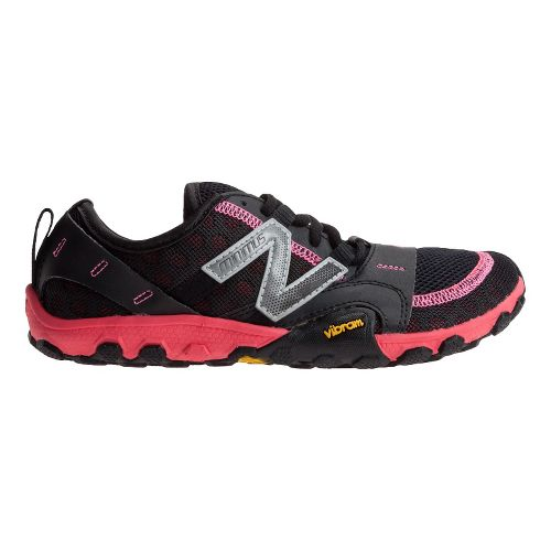 Womens New Balance Minimus 10v2 Trail Running Shoe - Black/Pink 7.5