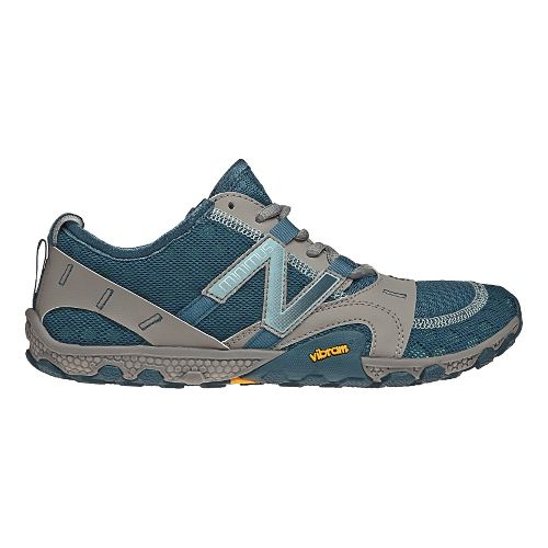 Womens New Balance Minimus 10v2 Trail Running Shoe - Grey/Blue 10.5