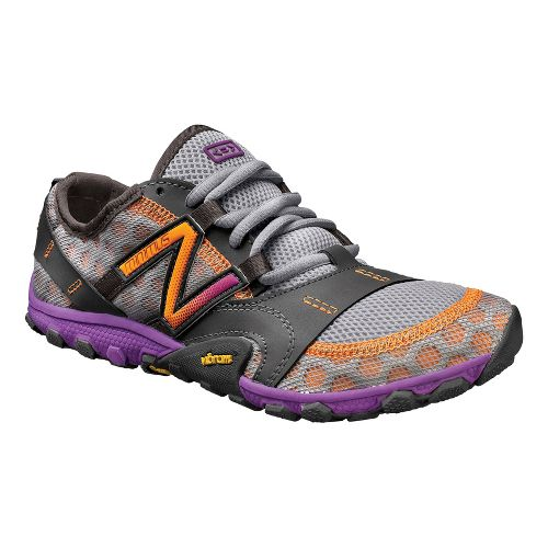 Womens New Balance Minimus 10v2 Trail Running Shoe - Silver/Purple 10