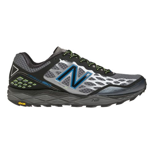 Mens New Balance 1210 Trail Running Shoe - Black/Blue 10.5