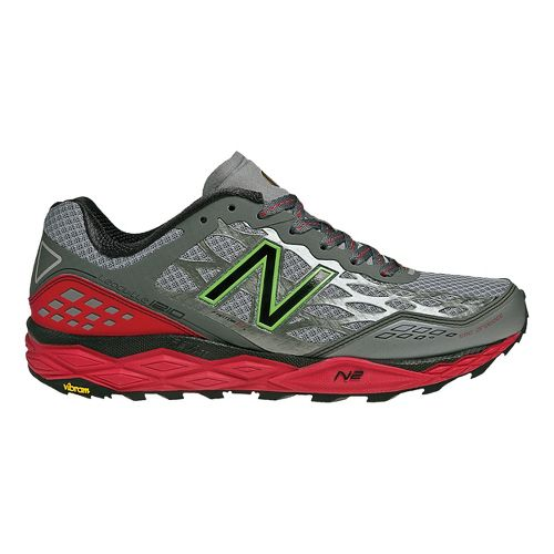 Mens New Balance 1210 Trail Running Shoe - Grey/Red 12.5