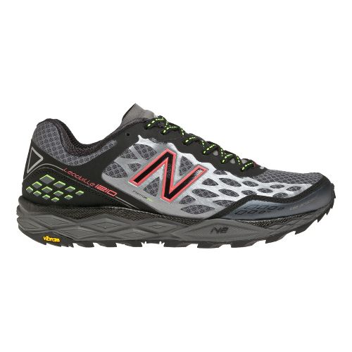 Womens New Balance 1210 Trail Running Shoe - Black/Pink 11