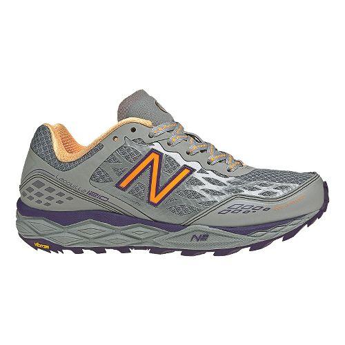 Womens New Balance 1210 Trail Running Shoe - Silver/Purple 7.5