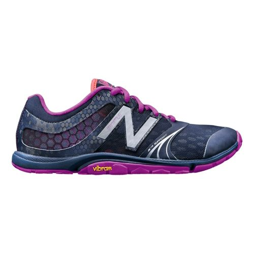 Womens New Balance Minimus 20v3 Trainer Cross Training Shoe - Navy/Berry 7.5