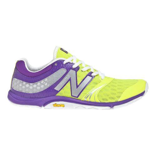 Womens New Balance Minimus 20v3 Trainer Cross Training Shoe - Purple/Yellow 9.5
