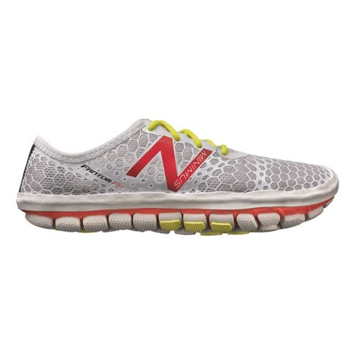 Womens New Balance Minimus Hi-Rez Running Shoe - Silver/Pink 10