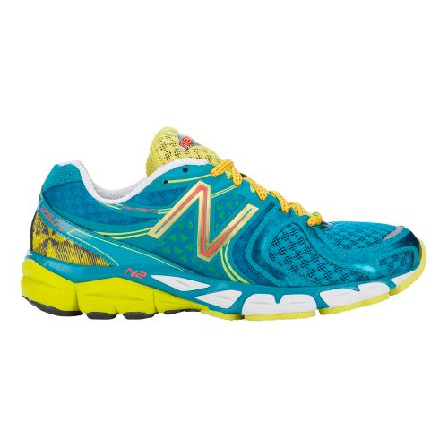 Womens New Balance 1260v3 Running Shoe - Teal/Lime 6.5