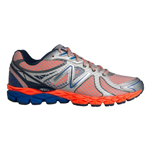 Mens New Balance 870v3 Running Shoe - Silver/Orange 15