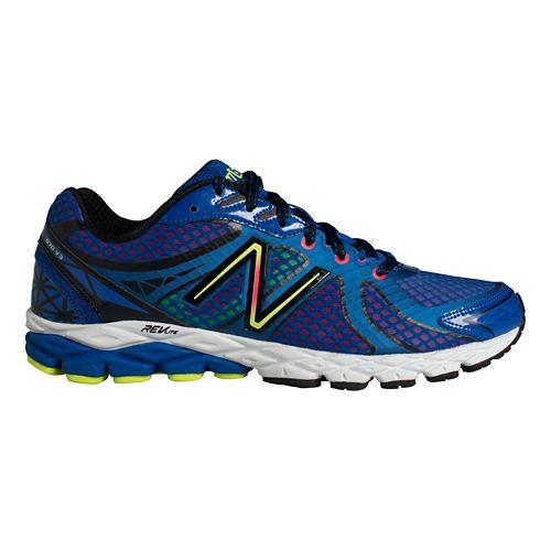 Mens New Balance 870v3 Running Shoe - Blue/Yellow 14