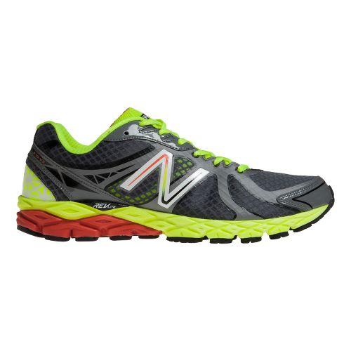 Mens New Balance 870v3 Running Shoe - Grey/Yellow 7.5