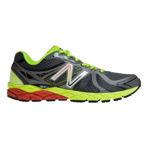 Mens New Balance 870v3 Running Shoe - Grey/Yellow 9
