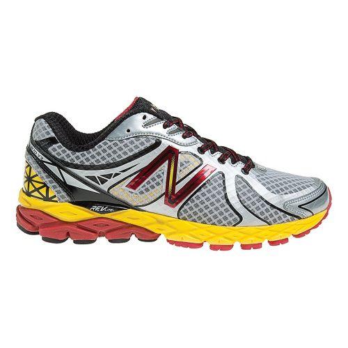 Mens New Balance 870v3 Running Shoe - Silver/Yellow 12