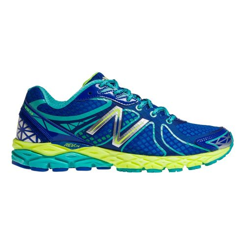 Womens New Balance 870v3 Running Shoe - Blue/Yellow 7.5