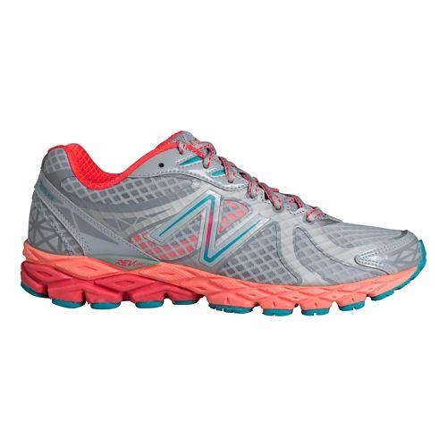 Womens New Balance 870v3 Running Shoe - Silver/Pink 9.5