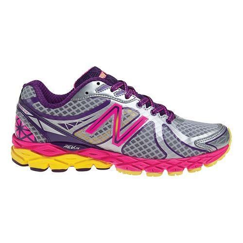 Womens New Balance 870v3 Running Shoe - Silver/Yellow 6