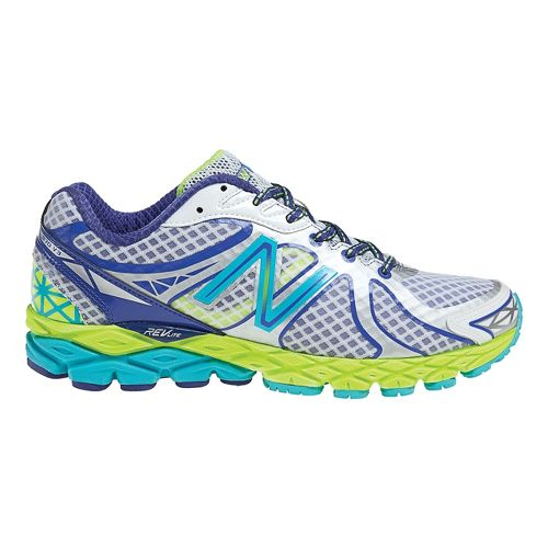 Womens New Balance 870v3 Running Shoe - White/Blue 10.5