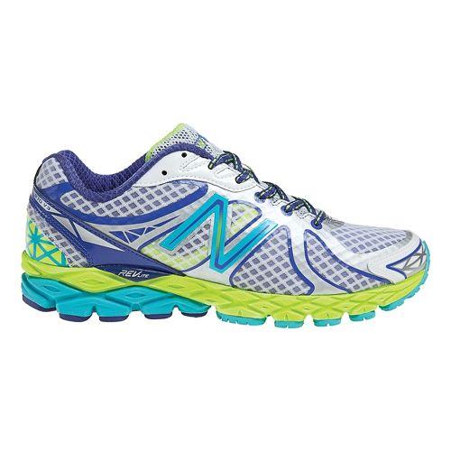 Womens New Balance 870v3 Running Shoe - White/Blue 11
