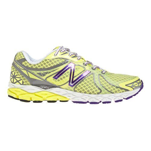 Womens New Balance 870v3 Running Shoe - Yellow/Purple 8.5
