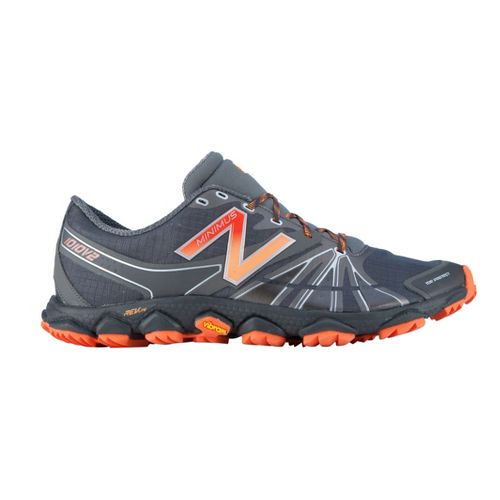 Mens New Balance Minimus 1010v2 Trail Running Shoe - Grey/Orange 11.5