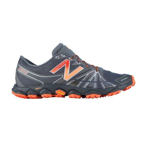 Mens New Balance Minimus 1010v2 Trail Running Shoe - Grey/Orange 12.5