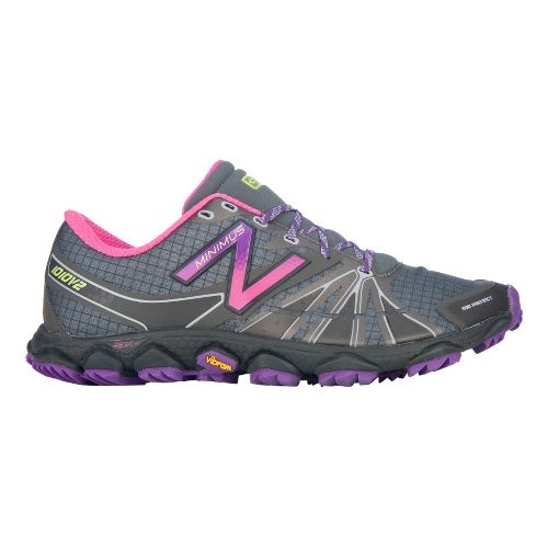 Womens New Balance Minimus 1010v2 Trail Running Shoe - Grey/Purple 10.5