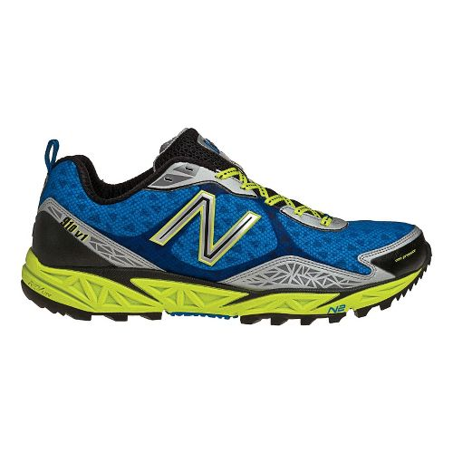 Mens New Balance 910 Trail Running Shoe - Blue/Green 12.5