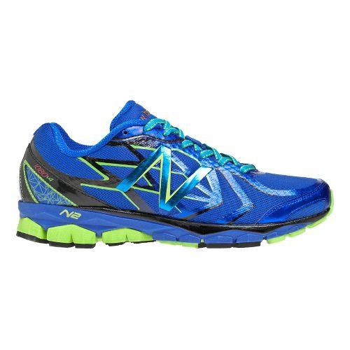 Mens New Balance 1080v4 Running Shoe - Blue/Green 12.5
