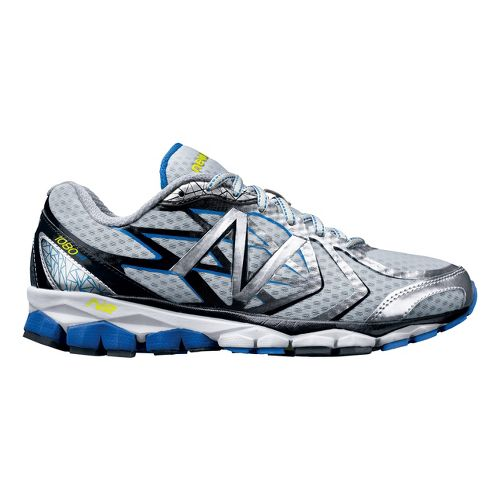 Mens New Balance 1080v4 Running Shoe - Silver/Blue 12.5