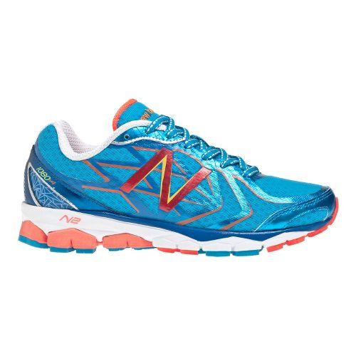 Womens New Balance 1080v4 Running Shoe - Blue/White 5
