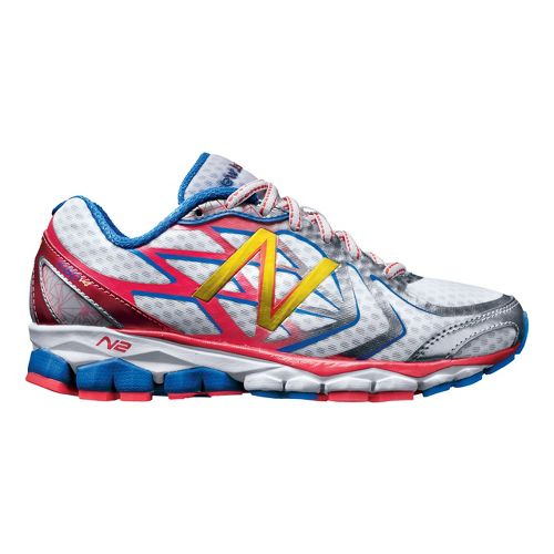 Womens New Balance 1080v4 Running Shoe - White/Pink 6