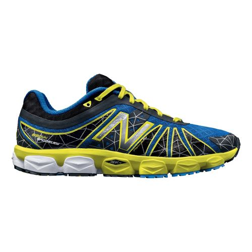 Mens New Balance 890v4 Running Shoe - Black/Blue 14