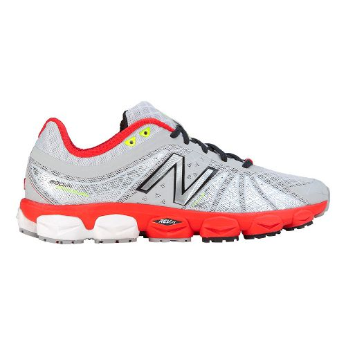 Mens New Balance 890v4 Running Shoe - Silver/Red 11.5