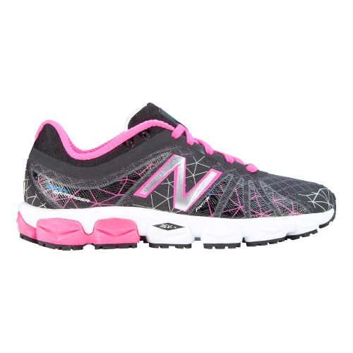 Womens New Balance 890v4 Running Shoe - Black/Pink 10.5