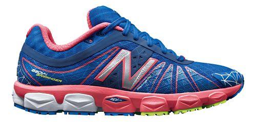 Womens New Balance 890v4 Running Shoe - Blue/Pink 6