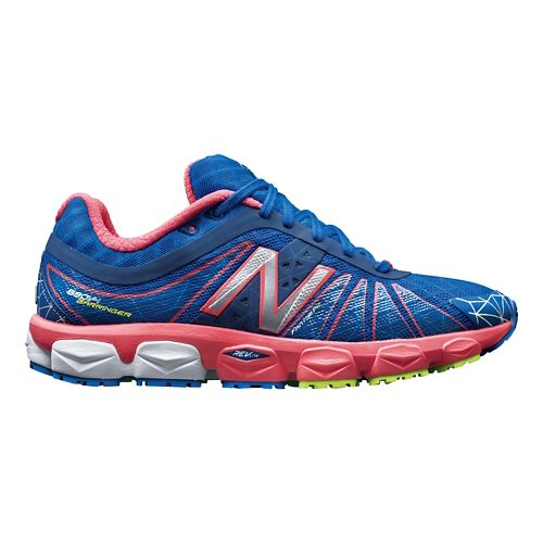 Womens New Balance 890v4 Running Shoe - Blue/Pink 8.5