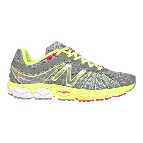 Womens New Balance 890v4 Running Shoe - Yellow/Silver 11
