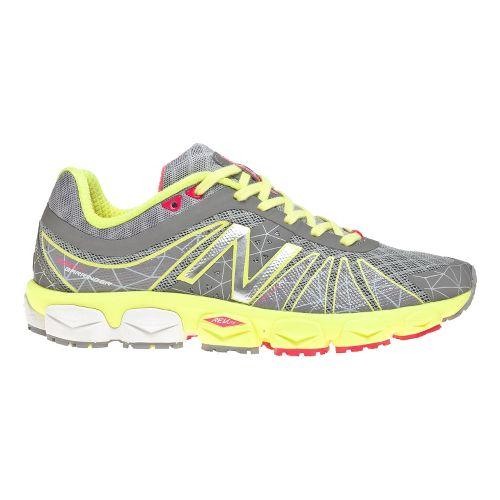 Womens New Balance 890v4 Running Shoe - Yellow/Silver 12