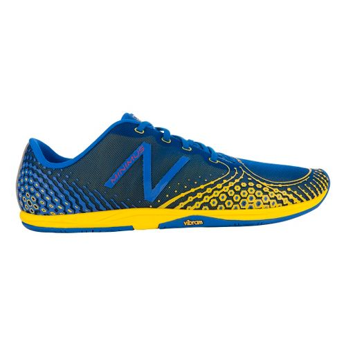 Mens New Balance Minimus Zero v2 Running Shoe - Blue/Yellow 11.5