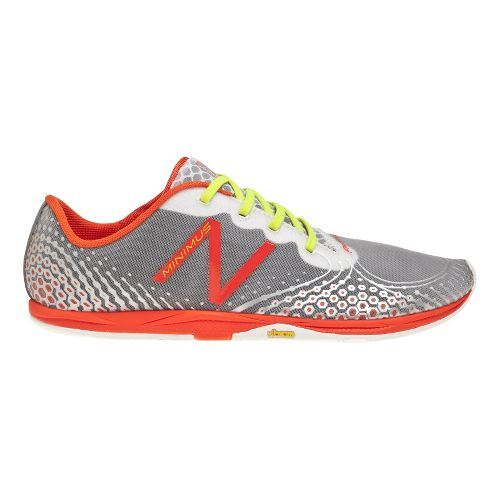Mens New Balance Minimus Zero v2 Running Shoe - White/Orange 12.5