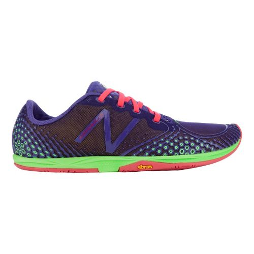Womens New Balance Minimus Zero v2 Running Shoe - Purple/Green 10.5