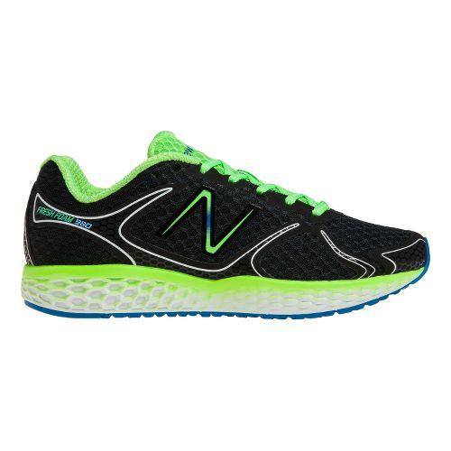 Mens New Balance Fresh Foam 980 Running Shoe - Black/Green 10.5